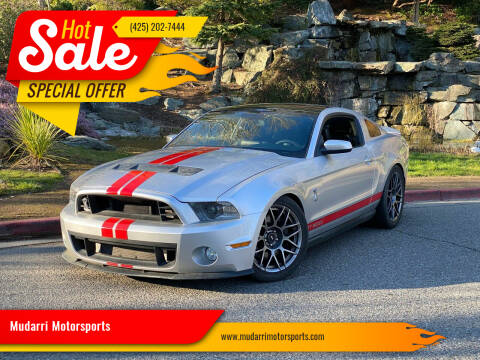 2011 Ford Shelby GT500 for sale at Mudarri Motorsports in Kirkland WA