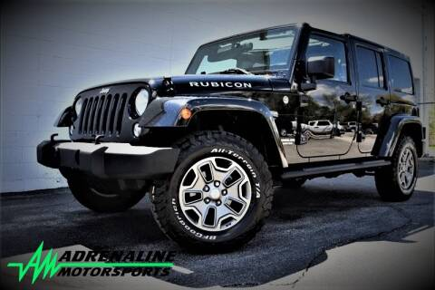2015 Jeep Wrangler Unlimited for sale at Adrenaline Motorsports Inc. in Saginaw MI