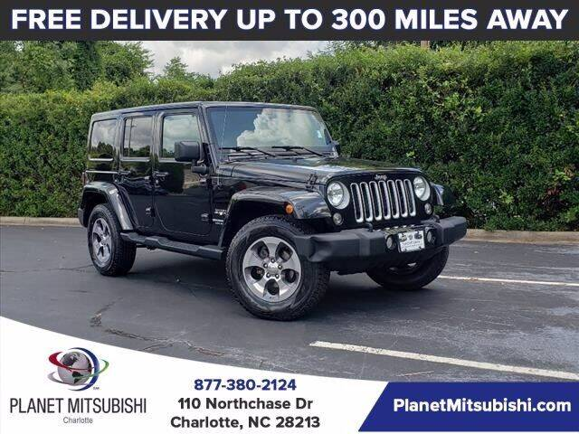 2016 Jeep Wrangler Unlimited for sale at Planet Automotive Group in Charlotte NC
