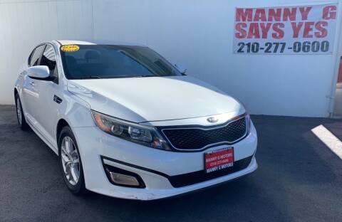 2014 Kia Optima for sale at Manny G Motors in San Antonio TX