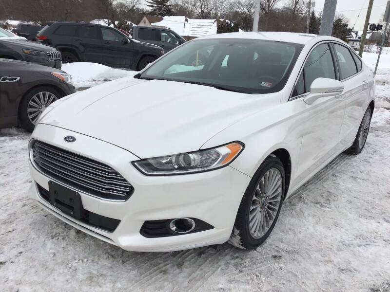 2013 Ford Fusion for sale at One Price Auto in Mount Clemens MI