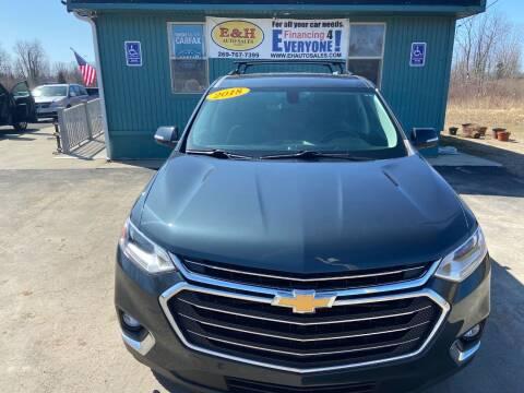 2018 Chevrolet Traverse for sale at E & H Auto Sales in South Haven MI