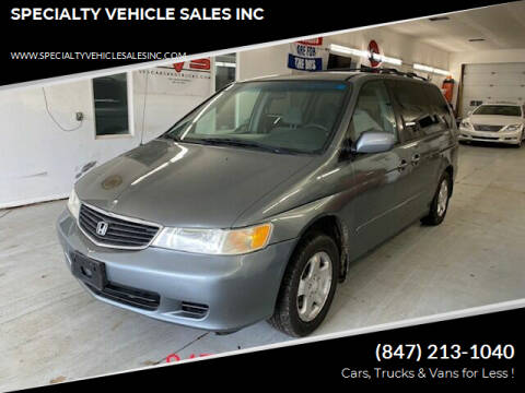 2001 Honda Odyssey for sale at SPECIALTY VEHICLE SALES INC in Skokie IL