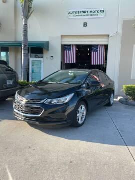 2017 Chevrolet Cruze for sale at AUTOSPORT MOTORS in Lake Park FL