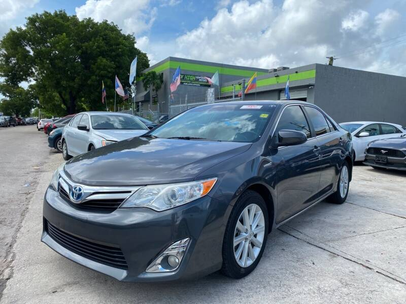 2013 Toyota Camry Hybrid for sale at Eden Cars Inc in Hollywood FL