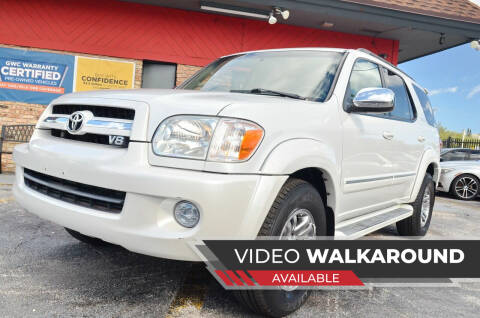 2007 Toyota Sequoia for sale at ALWAYSSOLD123 INC in North Miami Beach FL
