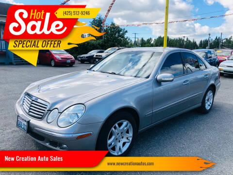 2005 Mercedes-Benz E-Class for sale at New Creation Auto Sales in Everett WA