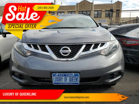 2014 Nissan Murano for sale at LUXURY OF QUEENS,INC in Long Island City NY