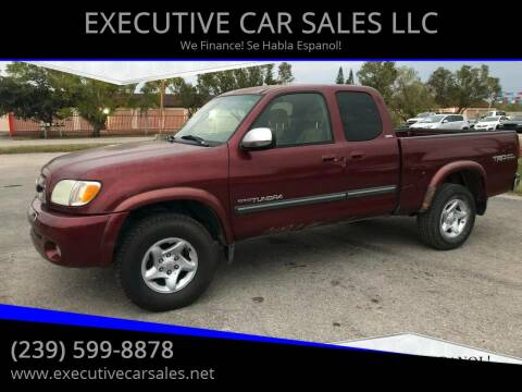 2003 Toyota Tundra for sale at EXECUTIVE CAR SALES LLC in North Fort Myers FL
