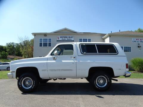 1988 Chevrolet Blazer for sale at SOUTHERN SELECT AUTO SALES in Medina OH
