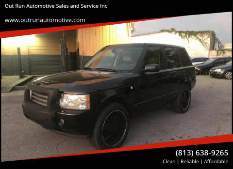 2006 Land Rover Range Rover for sale at Out Run Automotive Sales and Service Inc in Tampa FL