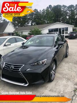 2018 Lexus IS 300 for sale at Gralin Hampton Auto Sales in Summerville SC