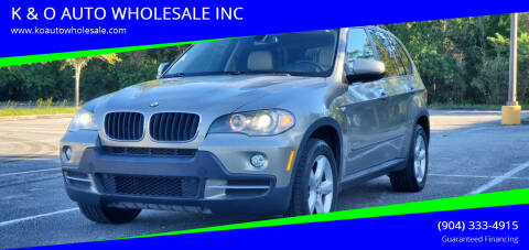 2009 BMW X5 for sale at K & O AUTO WHOLESALE INC in Jacksonville FL