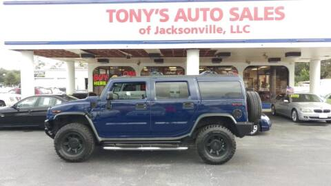 2007 HUMMER H2 for sale at Tony's Auto Sales in Jacksonville FL