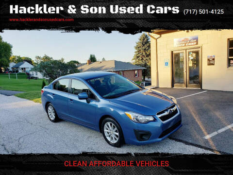 2014 Subaru Impreza for sale at Hackler & Son Used Cars in Red Lion PA
