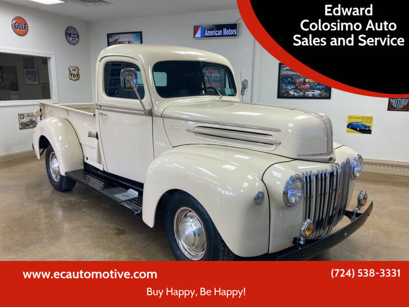 1947 Ford F-100 for sale at Edward Colosimo Auto Sales and Service in Evans City PA