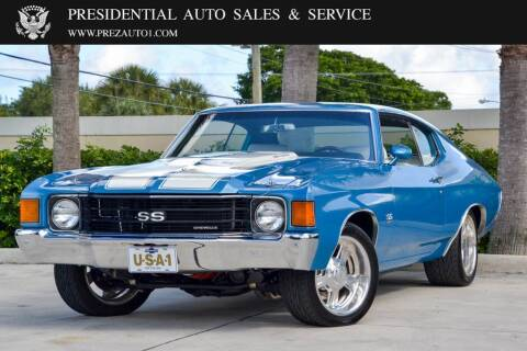 1972 Chevrolet Chevelle for sale at Presidential Auto  Sales & Service in Delray Beach FL