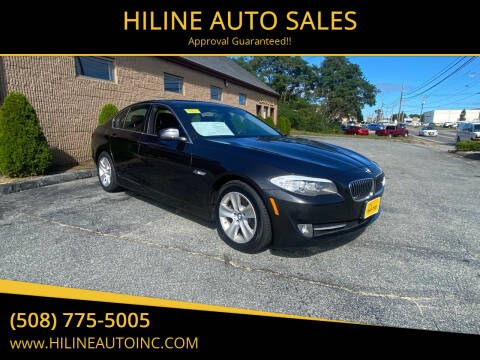 2013 BMW 5 Series for sale at HILINE AUTO SALES in Hyannis MA