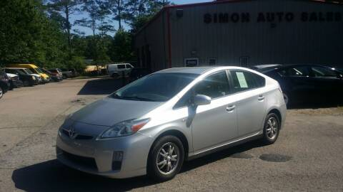 2010 Toyota Prius for sale at Simon's Auto Sales in Clayton NC