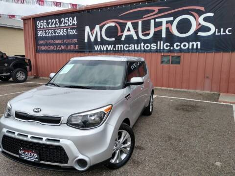 2015 Kia Soul for sale at MC Autos LLC in Pharr TX
