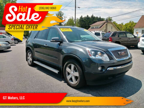 2011 GMC Acadia for sale at GT Motors, LLC in Elkin NC