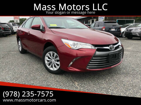 2017 Toyota Camry for sale at Mass Motors LLC in Worcester MA
