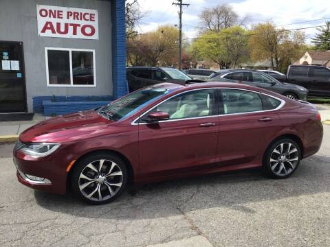 2015 Chrysler 200 for sale at One Price Auto in Mount Clemens MI