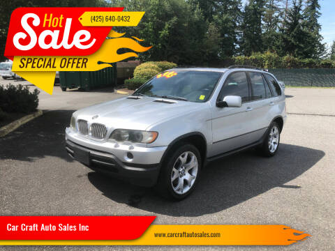 2001 BMW X5 for sale at Car Craft Auto Sales Inc in Lynnwood WA