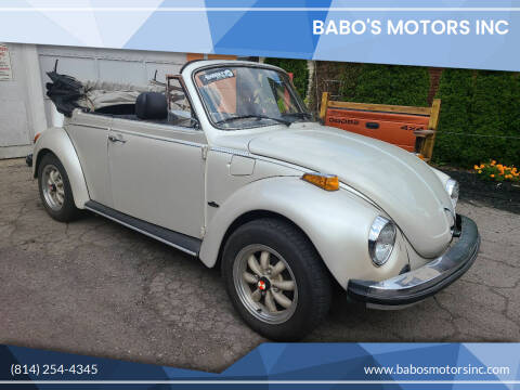 1978 Volkswagen Beetle Convertible for sale at BABO'S MOTORS INC in Johnstown PA