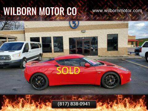 2010 Lotus Evora for sale at Wilborn Motor Co in Fort Worth TX