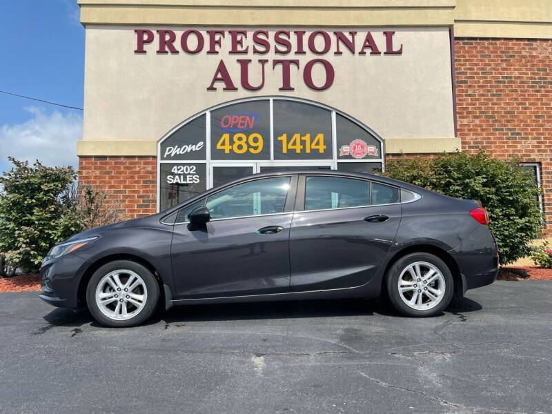 2016 Chevrolet Cruze for sale at Professional Auto Sales & Service in Fort Wayne IN