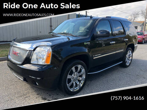 2009 GMC Yukon for sale at Ride One Auto Sales in Norfolk VA