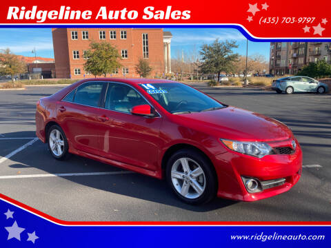 2014 Toyota Camry for sale at Ridgeline Auto Sales in Saint George UT