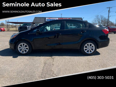 2015 Kia Rio for sale at Seminole Auto Sales in Seminole OK