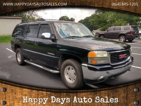 2002 GMC Yukon XL for sale at Happy Days Auto Sales in Piedmont SC