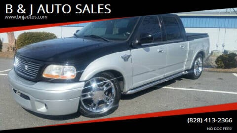 2003 Ford F-150 for sale at B & J AUTO SALES in Morganton NC