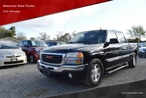 2006 GMC Sierra 1500 for sale at American Auto Center in Austin TX
