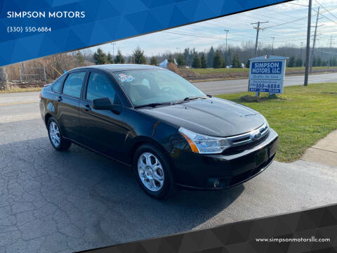 2009 Ford Focus for sale at SIMPSON MOTORS in Youngstown OH