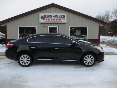 2012 Buick LaCrosse for sale at Granite Auto Sales in Redgranite WI