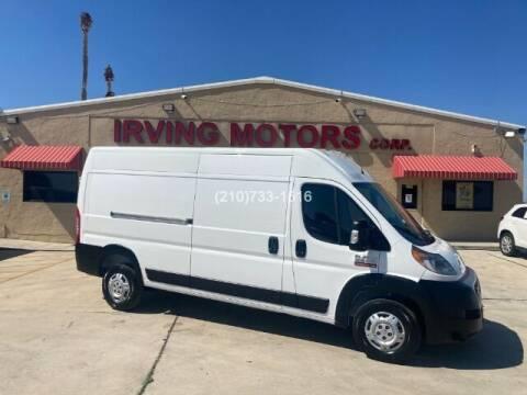 2019 RAM ProMaster Cargo for sale at Irving Motors Corp in San Antonio TX