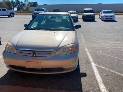 2002 Honda Civic for sale at S & H AUTO LLC in Granite Falls NC