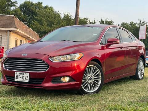 2015 Ford Fusion for sale at Texas Select Autos LLC in Mckinney TX