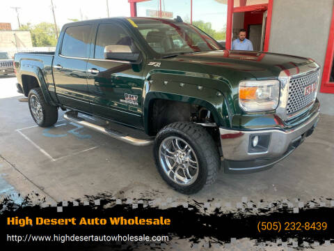 2015 GMC Sierra 1500 for sale at High Desert Auto Wholesale in Albuquerque NM