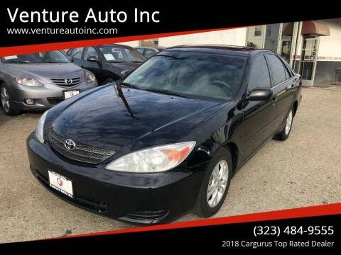 2004 Toyota Camry for sale at Venture Auto Inc in South Gate CA