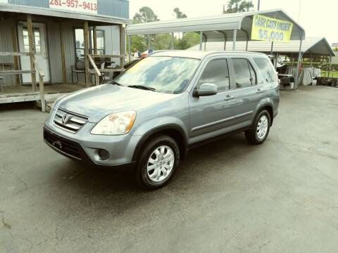2006 Honda CR-V for sale at Texas 1 Auto Finance in Kemah TX