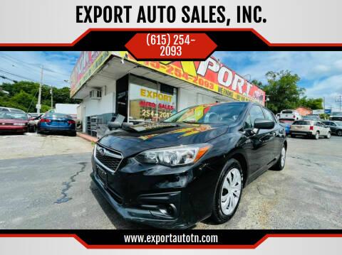 2019 Subaru Impreza for sale at EXPORT AUTO SALES, INC. in Nashville TN
