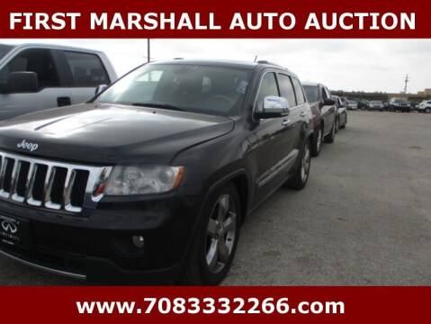 2013 Jeep Grand Cherokee for sale at First Marshall Auto Auction in Harvey IL