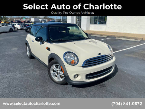 2012 MINI Cooper Hardtop for sale at Select Auto of Charlotte in Matthews NC