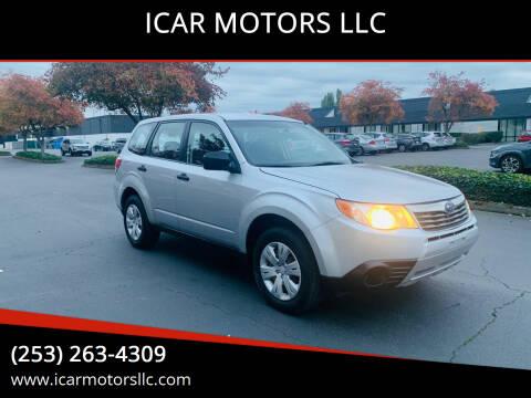 2010 Subaru Forester for sale at ICAR MOTORS LLC in Federal Way WA