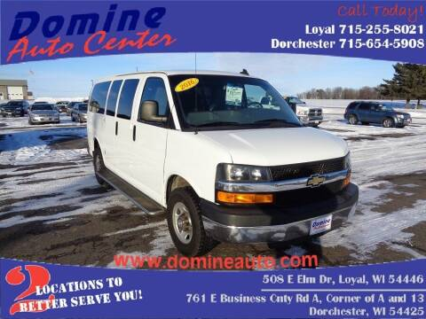 2016 Chevrolet Express Passenger for sale at Domine Auto Center in Loyal WI
